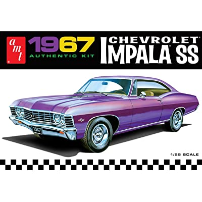 AMT 981 1967 Chevrolet Impala SS 1:25 Scale Plastic Model Kit - Requires Assembly: Toys & Games