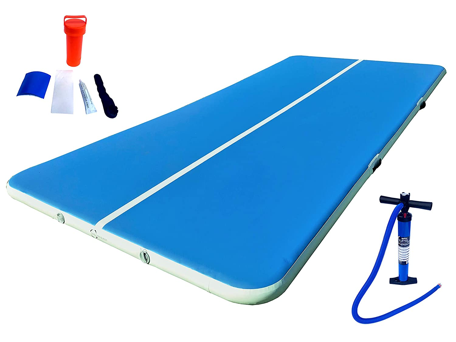 Inflatable mats are included 50
