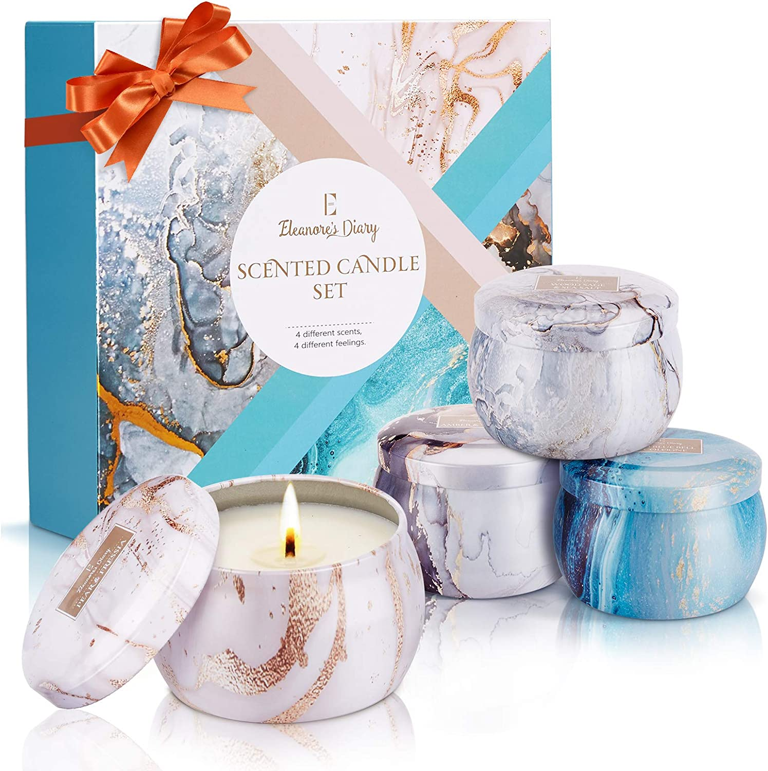 Eleanore's Diary Scented Candles Gift Sets for Women 4 pack WAS £13.99 NOW £8.39 w/code 2P5Y2DN9 @ Amazon