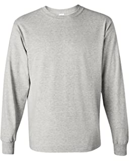First Quality Large Black Gildan 5400 Classic Fit Adult Long Sleeve T-Shirt Heavy Cotton