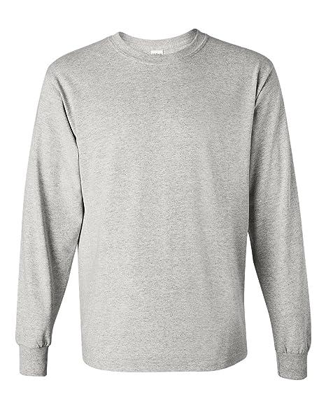 cdaa3698 Gildan Mens 5.3 oz. Heavy Cotton Long-Sleeve T-Shirt G540 -ASH