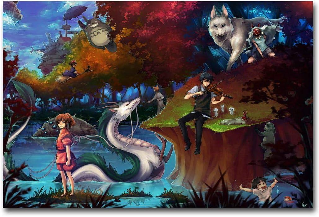 Amazon.com: SAVA 74746 - Póster de la princesa Mononoke ...