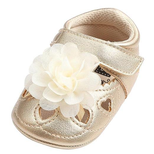 Amiley Baby First Cribers Zapatos de bebé flor hueco venda de moda ...