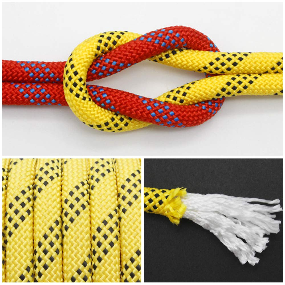 Static Fire Escape Safety Rappelling Rope Parachute Rope 65ft Tgzme 10 MM Nylon Outdoor Climbing Rope 20M