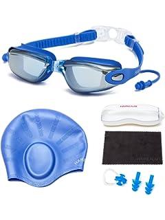 6fe8545ad9 HAIREALM Myopia Swimming Goggles(Prescription 0-8.0 Diopters) +Swimming  cap+Case