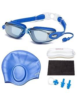 f2d5a00e9b204e UTOBEST Lunettes de Natation myopie Protection UV en Silicone réglable  Sangles Anti-Fuite, Pince