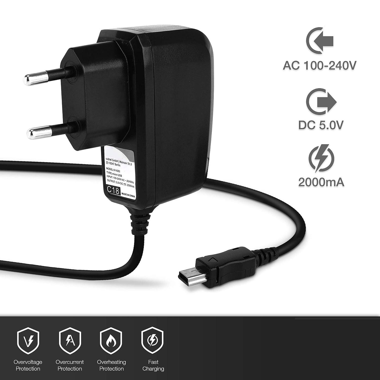 One Classic 1A // 1000mA kompatibel mit TAHUNA Teasi One4 5V Mini USB Ladeger/ät Netzteil Charger schwarz Core One 2 Pro Pulse One3 subtel/® Qualit/äts Ladekabel 1.1m