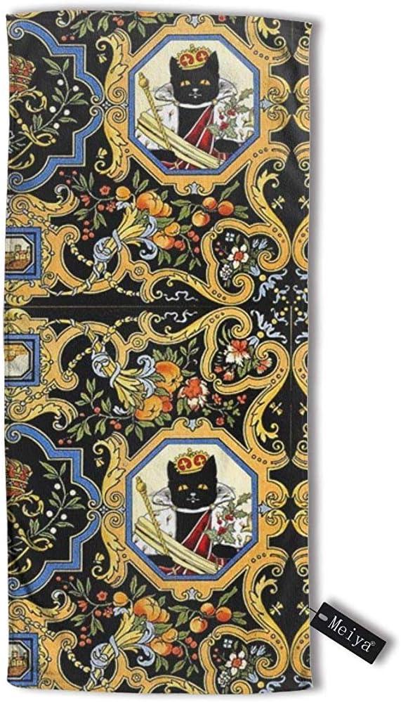 130 cm pour Bain Visage Gym et Spa JHDF Fleurs Feuilles Fruits Corne Victorienne Abondance Maisons Ch/âteaux Baroque Rococo Serviette De Voyage Bain 80