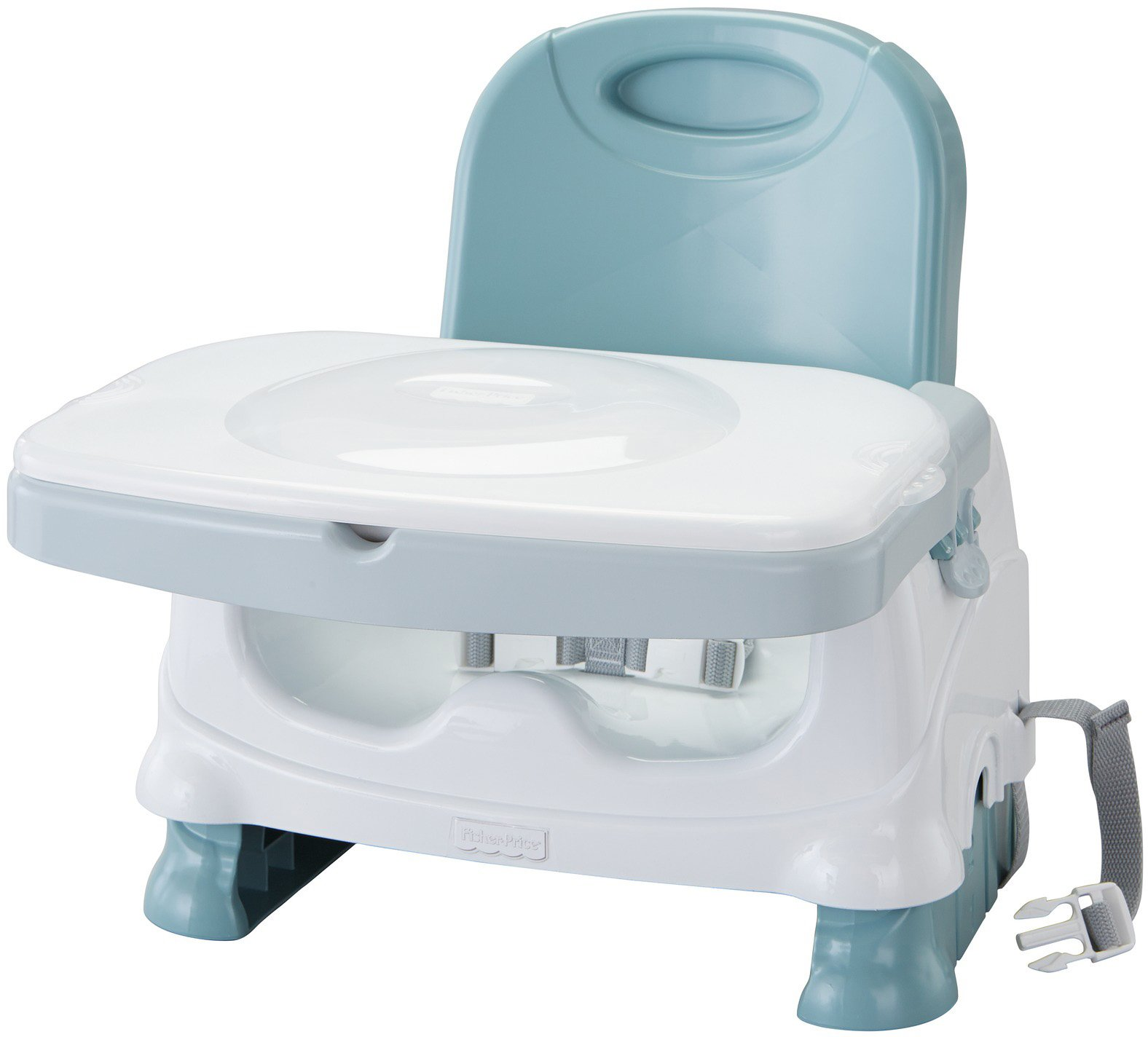 Amazon Fisher Price Healthy Care Booster Seat Blue Green Gray