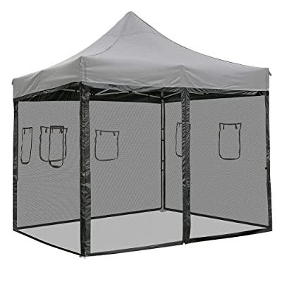 Chi Mercantile 4 Mesh Sidewalls Dust Elements Bug Protection with Windows and Zippered Entrance for 10 x 10 Canopy Tent Food County Fair Concession Vendor Stand (for 10' x 10 Canopy) : Garden & Outdoor