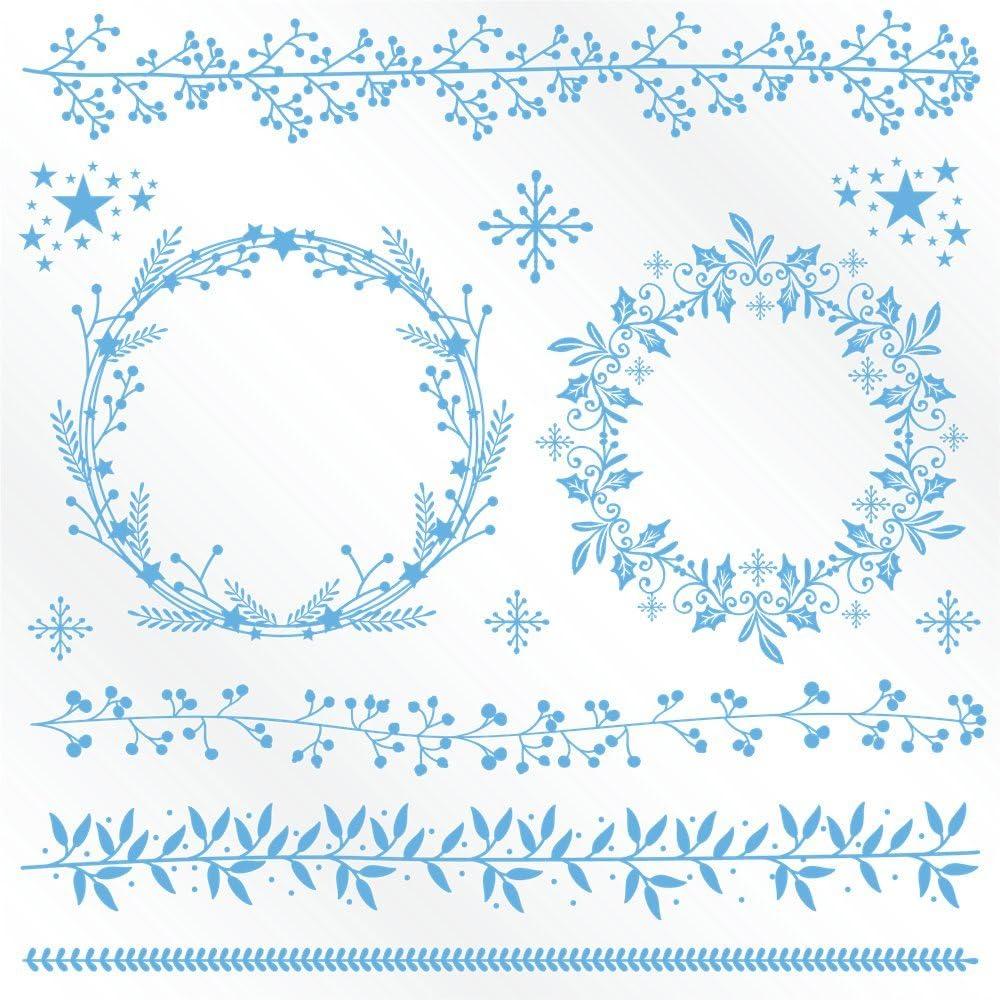6 St/ück Mehrfarbig Winter Wonderland/Metall-Stanze Aufdruckvorlagen f/ür Folie