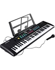 Electronic Keyboard 61 Key Portable Music Piano Keyboard with Microphone and Stand Interactive Teaching Piano Keyboard