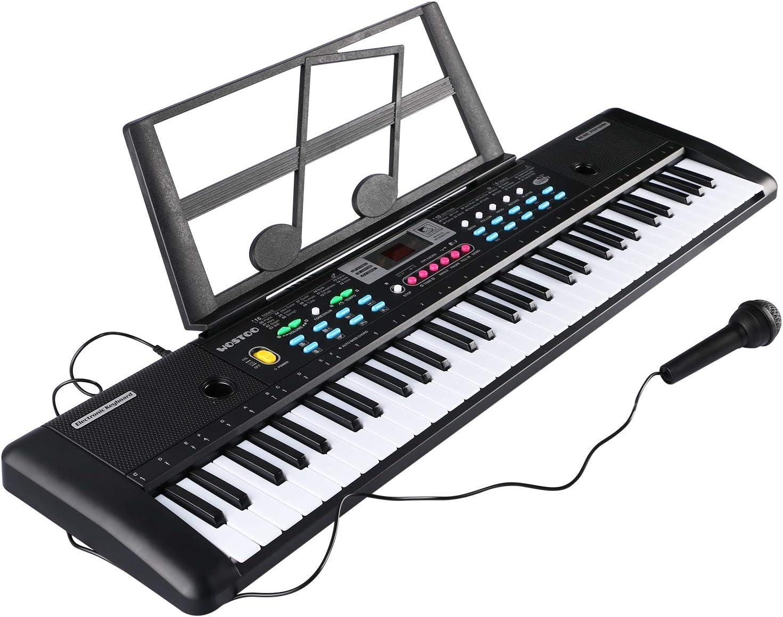 Teclado Electrónico Piano 61 Teclas, Teclado de Piano Portátil con ...