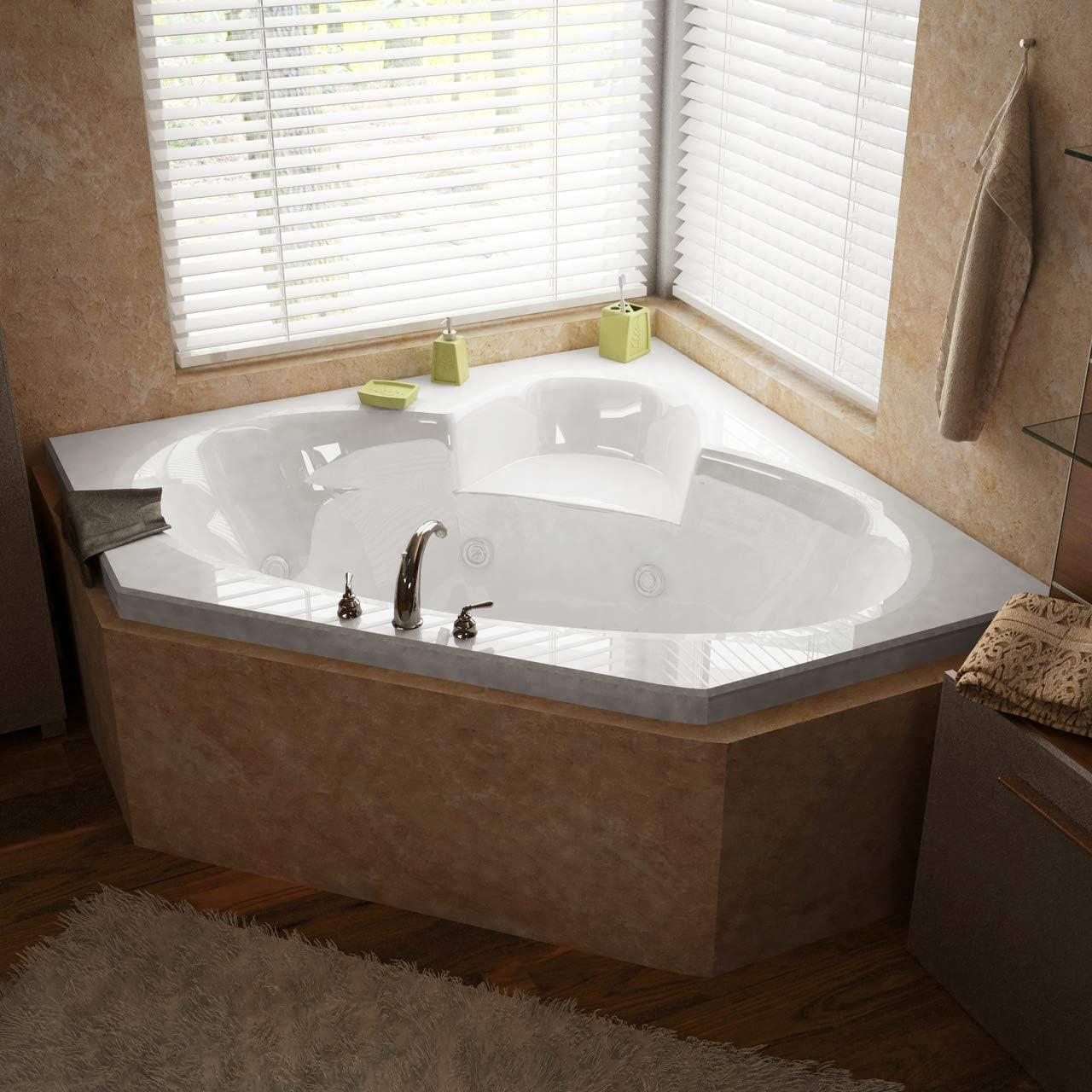 Atlantis Whirlpools 6060SWR Sublime 60 x 60 Corner Whirlpool Jetted Bathtub