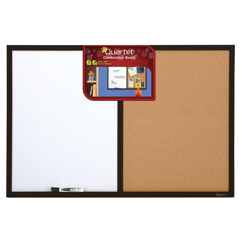 Quartet Dry Erase Board & Cork Board Combination, 2 x 3 Feet, Whiteboard & Corkboard, Black Frame (95223B) by Quartet (Image #3)