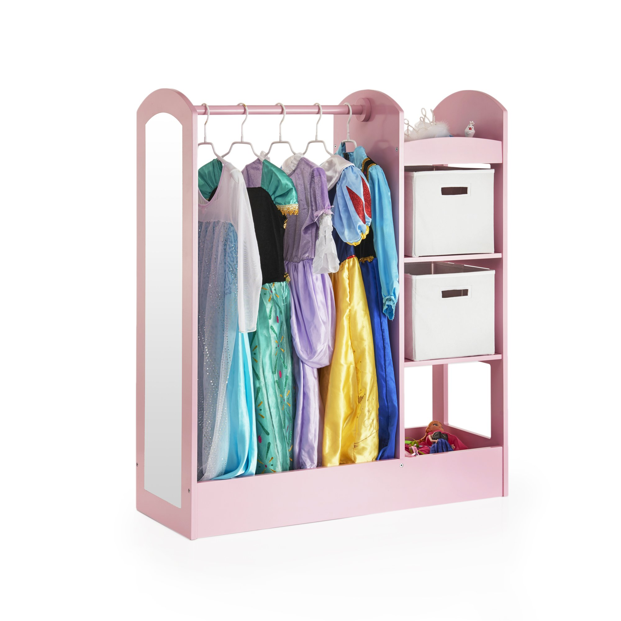 Guidecraft See and Store Dress Up Center Pink - Armoire, Dresser Kids' Furniture by Guidecraft (Image #1)