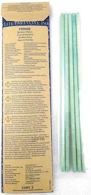 1a Partylite 5 Dekorative Duftsticks Bambus Oase Fs908e