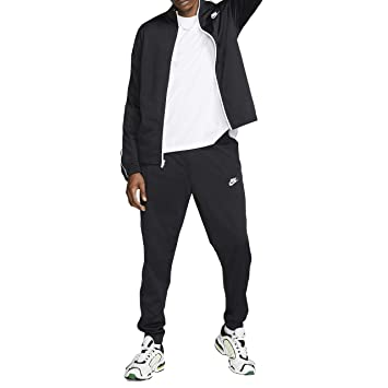 Nike Men's M NSW CE TRK SUIT PK BASIC Tracksuit, Black White