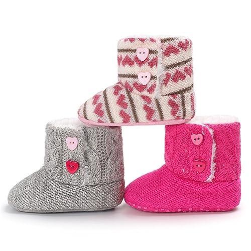 Kfnire Zapatos de Bebé de Invierno, Botas de Suela Blanda Antideslizante Bebé con Forro Polar 0-18 Meses: Amazon.es: Zapatos y complementos