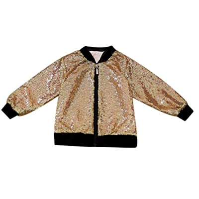 amazingdeal Baby Boys Girls Sequins Jacket Autumn Coats children Outerwear Cool Style