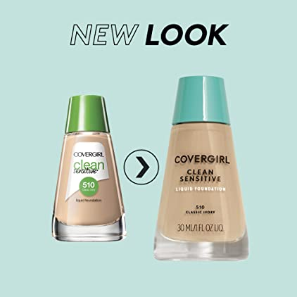 COVERGIRL, Clean Sensitive Skin Foundation, Creamy Natural, 1 Count (packaging may vary)