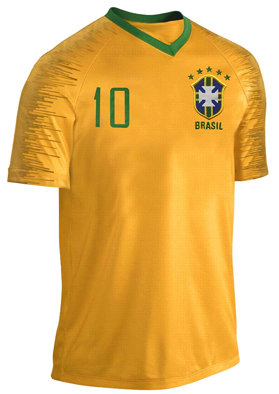 Blackshirt Company Brasilien Kinder Trikot Set Fu/ßball Fan Zweiteiler Gelb Blau