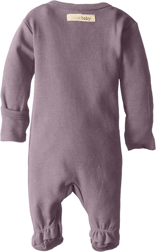 Hat Baby Girl Long Sleeve Purple Fitted Cotton Footsie