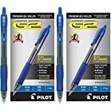 PILOT G2 Rolling Ball Gel Pens, Blue, 12 Count - 2 Pack