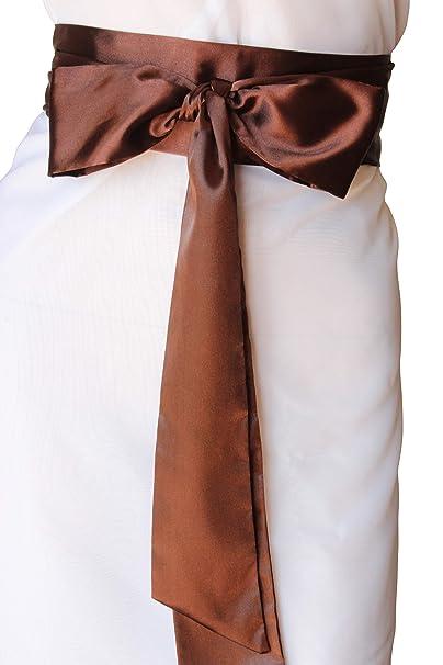 SASH Bridal Satin Brown Belt at Amazon Women s Clothing store  4d5cc8be5
