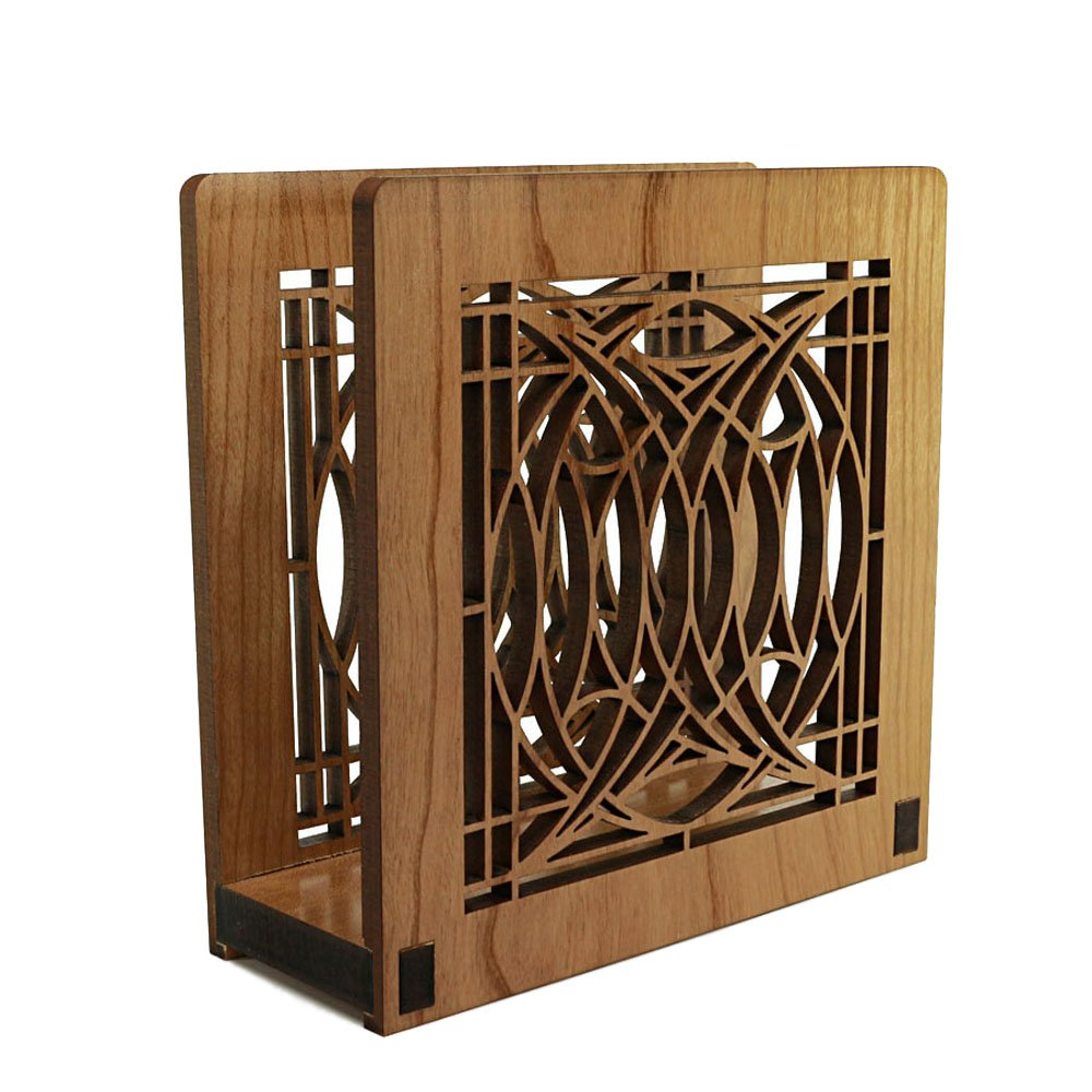 Frank Lloyd Wright BLOSSOM HOUSE Design Laser Cut Wood Napkin Holder