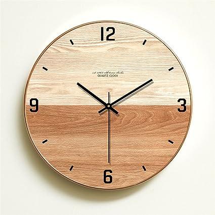Amazon.com: Imoerjia Wall Clock Mute Creative Bedroom Living Room Atmosphere Clocks Home Clocks to Form J 14 in.: Home & Kitchen