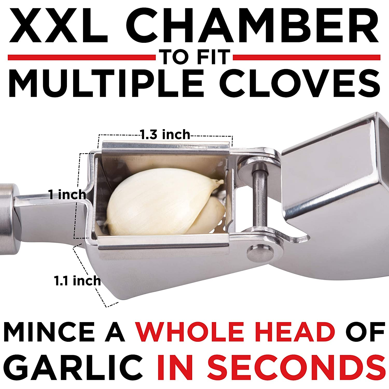 Alpha Grillers Garlic Press And Peeler Set Stainless Steel Mincer and Silicone Tube Roller Best Kitchen Gift Ginger Crusher