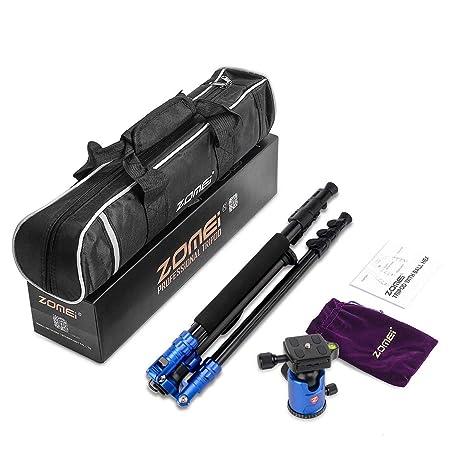 ZOMEI M7 trípode Profesional portátil de magnesio aleación de Aluminio trípode monopie para cámara réflex Conjunto