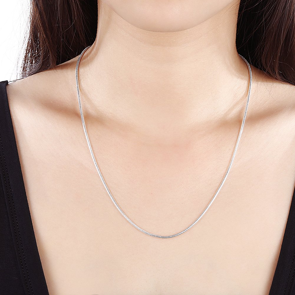 myazs8580 C010-18 Fashion Different Sizes Silver Snake Chain