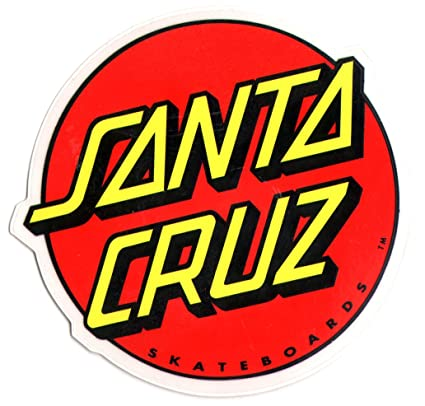 Santa cruz classic logo skateboard sticker large skate board skating skateboarding