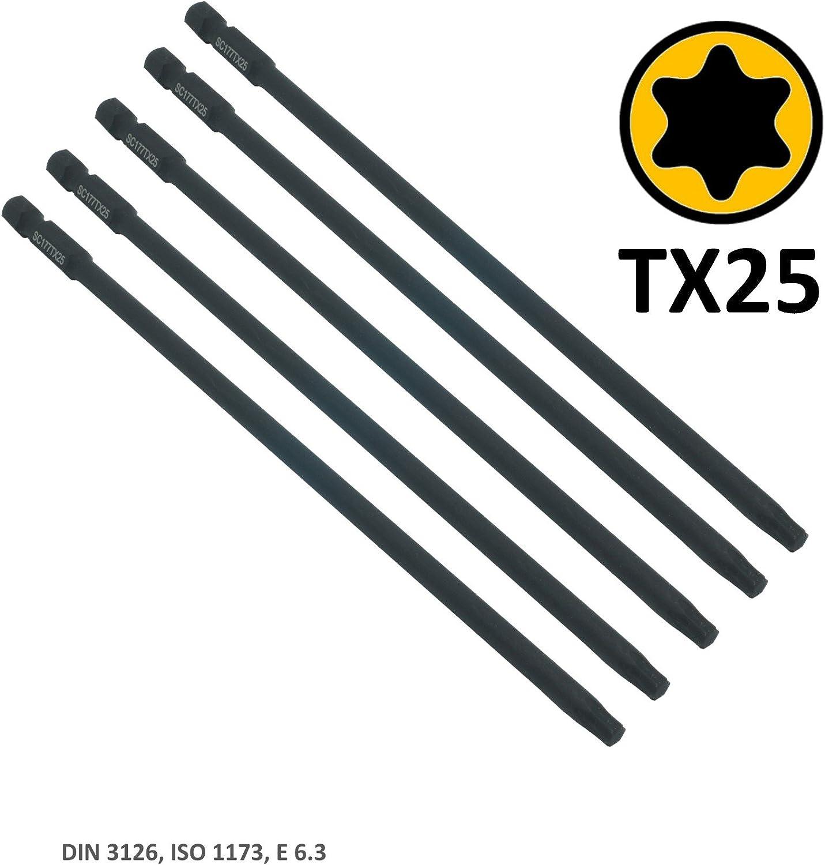 5 unidades SabreCut SC177TX25/_5 Juego de 5 destornilladores para Makita DFR750 DFR750RME BFR750 y 6844