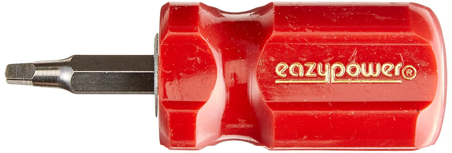 Eazypower 00913 Tub of 15 Red R1 Square //R2 Square Stubby Handle Screwdriver
