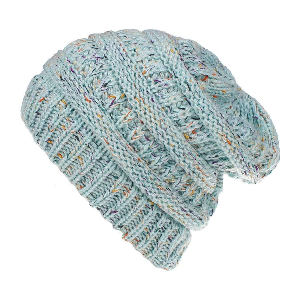 Staron Womens Knit Hats Baggy Winter Warm Crochet Ski Beanie Skull Slouchy Caps Hat