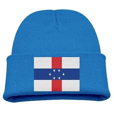 ZWZ Flag Of The Netherlands Antilles Kid's Hats Winter Funny Soft Knit Beanie Cap Children Unisex