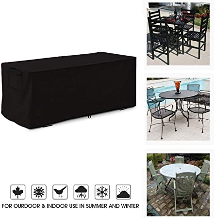 Funda Protectora para Muebles de Jardín, Funda Muebles Jardin Exterior Impermeable/Resistente a Los Rayos UV/Impermeable Fundas para Mesas de Ping Pong Rectangular, Negro (Size : 270x180x89cm): Amazon.es: Hogar