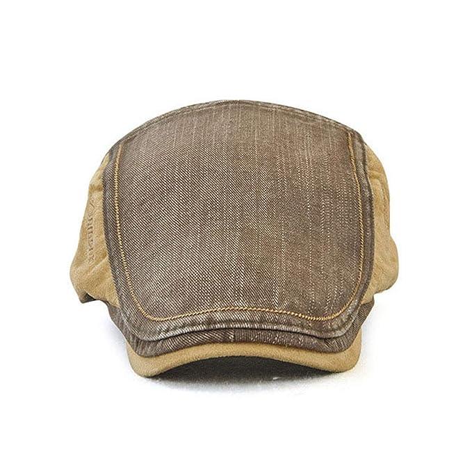 Men Women Visor Cotton Newsboy Hat Gorras Planas Beret Boinas Flat Cap Casquette Sun Flat Cabbie, Army Green at Amazon Womens Clothing store: