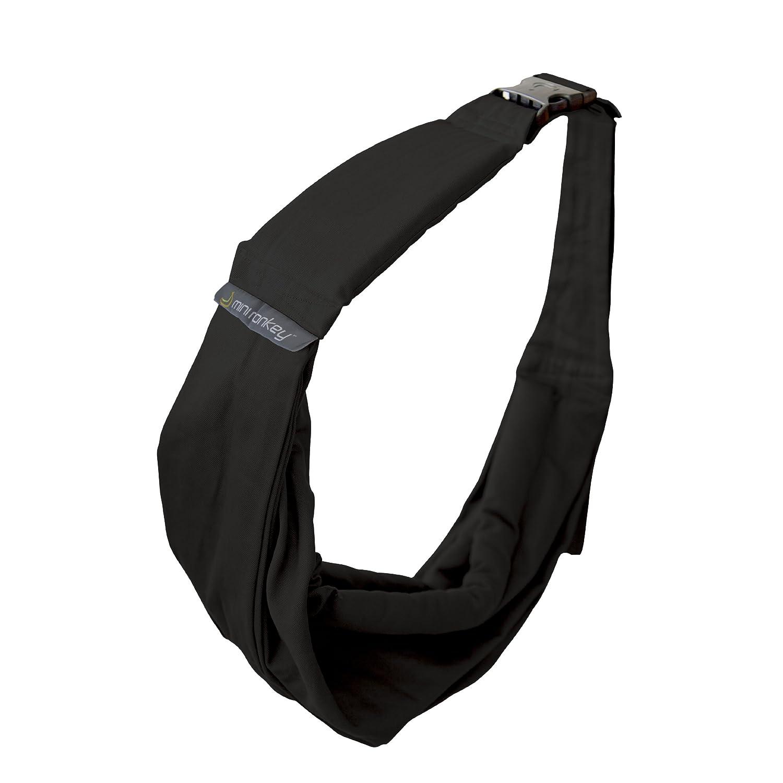 color negro Pa/ñuelo portabeb/és de Minimonkey