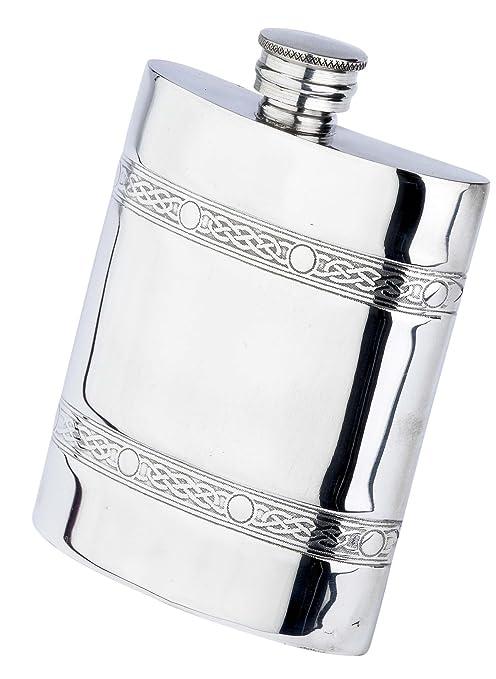Mullingar Irish Pewter Whiskey Set 8oz Flask Funnel Shot Glasses Made in Ireland