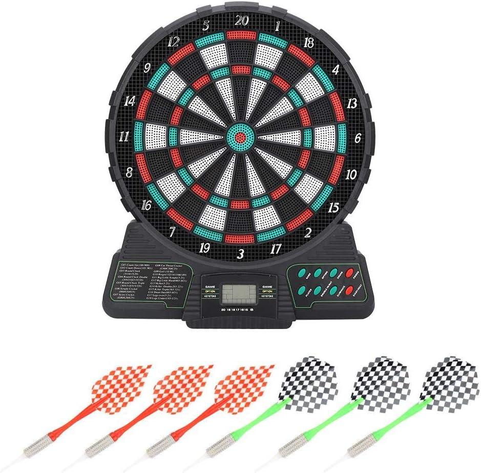 Juego de Dardos electrónico de puntuación automática, recordatorio de Sonido Dart Tips Juguetes con 6 Dardos: Amazon.es: Deportes y aire libre