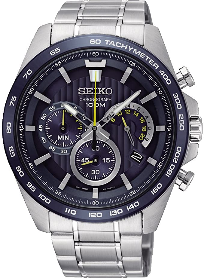 Seiko Reloj cronógrafo para Hombre de Cuarzo con Correa en Acero Inoxidable SSB301P1