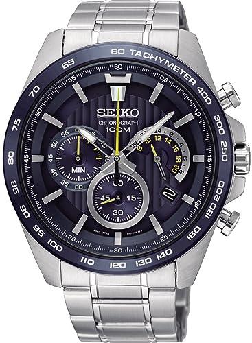 Seiko Reloj Cronógrafo para Hombre de Cuarzo con Correa en Acero Inoxidable SSB301P1: Amazon.es: Relojes