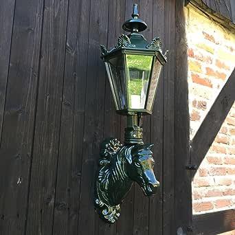 Antikas - lámpara de exterior cuadra de caballos - lámpara de pared jardín - farola con caballo - farolas patio: Amazon.es: Iluminación