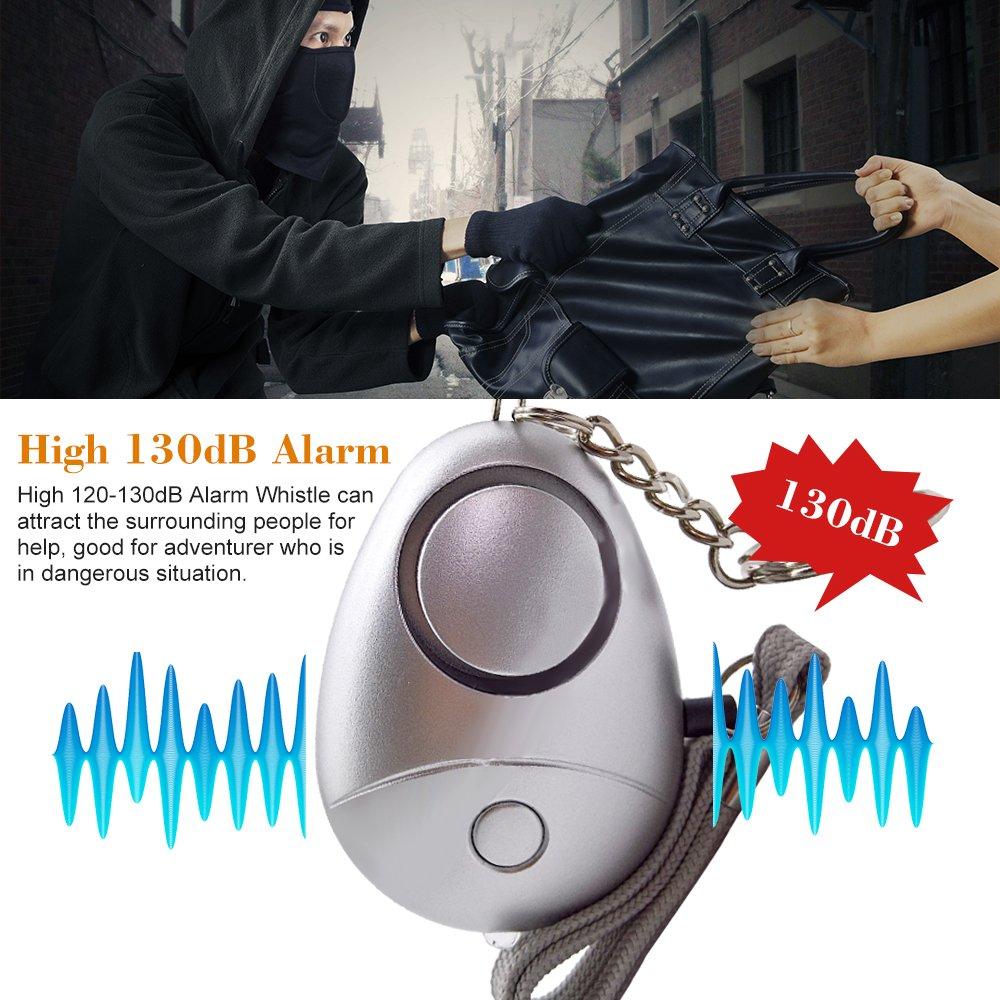 130db Alarma de Seguridad Personal Llavero Emergencia autodefensa Sirena Segura para Mujeres Ancianos Boquite Safesound Alarma Personal Hombres ni/ños