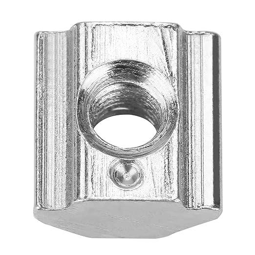 LAQI 50 Tuercas de Acero al Carbono Deslizante con Ranura en T para Accesorios de Perfil de Aluminio Serie 20 M3 x 10 x 5