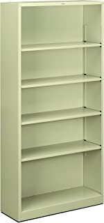 product image for HON Brigade Metal Bookcase - 5-Shelf Bookcase, 34-1/2w x 12-5/8d x 72h, Putty (HS72ABC)